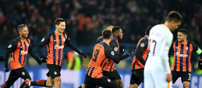 El Shakhtar Donetsk remonta en casa, para vencer 2-1 a la Roma en ida de 8vos
