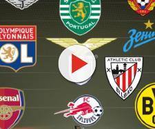 Les 16 équipes qualifiées pour les 8èmes de finale de la Ligue Europa.