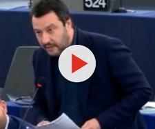 Matteo Salvini al Parlamento Europeo