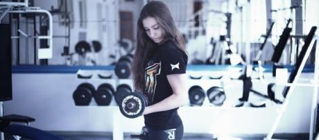 Circuito de entrenamiento en un gimnasio