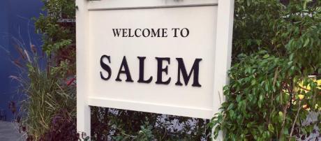 'Days of our Lives' Salem welcome sign. - [Image via NBC/Instagram]