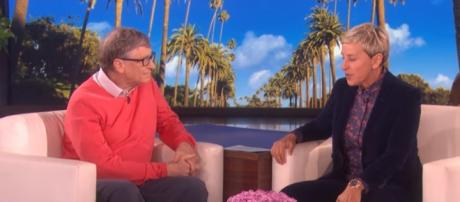 Ellen with Bill Gates. - [TheEllenShow / YouTube screencap]