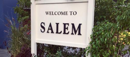 'Days of our Lives' Salem welcome sign. - [Image via NBC/Instagram]