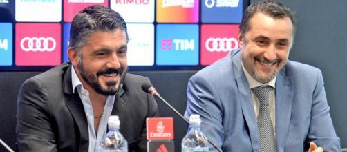 Gattuso e Mirabelli sorridenti