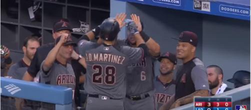 JD Martinez last year with Arizona - image - MLB / Youtube