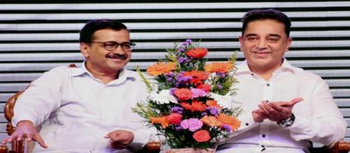 Kamal Haasan launches party 'Makkal Needhi Maiam' (Image via Sun Tv/Youtube)