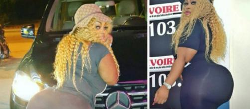 La propia 'Diva' afirma que tiene las nalgas más grandes en África Occidental.