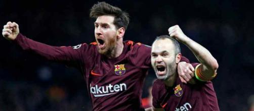 Leo Messi e Andres Iniesta formam uma dupla incrível