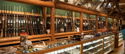 Supermarket with guns. - [Image credit – Marcin Wichary, Wikimedia Commons]