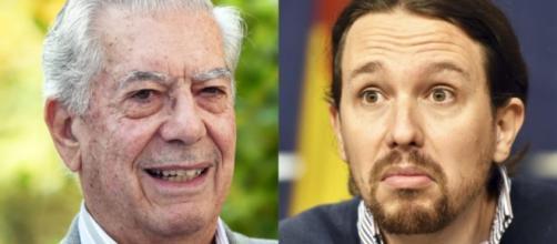 Vargas Llosa y Pablo Iglesias en imagen