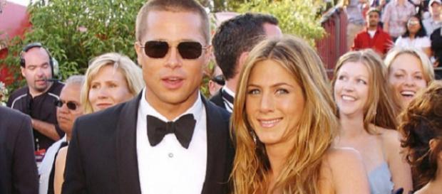 Brad Pitt e Jennifer juntos, em 2004