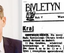 Internauci odkryli, że szmalcownikiem był imiennik Jana Grabca.