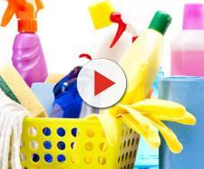 Detersivi per le pulizie potenzialmente dannosi per la salute.