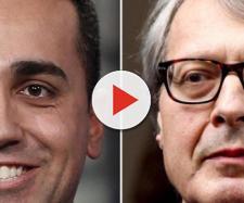 Vittorio Sgarbi al gabinetto contro Luigi Di Maio - Il video