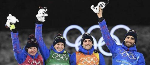 JO 2018. Biathlon : Le relais mixte français emmené par Martin Fourcade en or - (via ouest-france.fr)