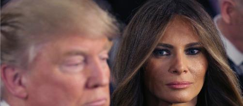 Melania and Donald Trump, via Twitter