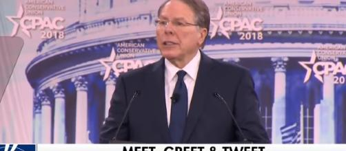 NRA's Wayne LaPierre defends Second Amendment at CPAC. - [FOX News / YouTube screencap]