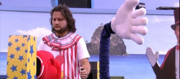 Diego vence a 'Prova do Anjo', no BBB18. (Foto Reprodução).