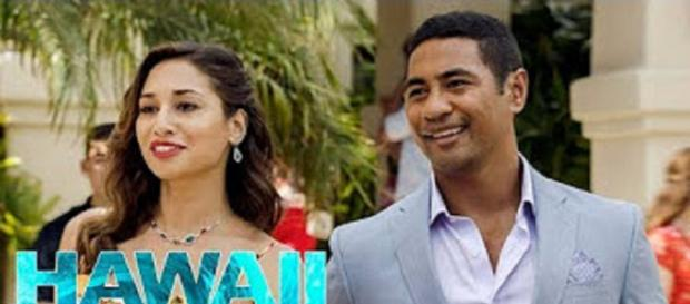 Meaghan Rath and Beulah Koale go undercover as adoptive parents on the March 2 return of 'Hawaii Five-O' -- image cap Promotional Photos/YouTube