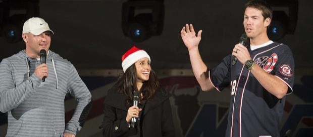 Meghan Markle during a USO show for U.S. service members and families (Image credit – Miles Cullen, Wikimedia Commons)