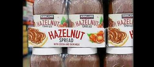 Costco has its own brand of hazelnut spread. - [Image: RandomTopicsWithHumor / YouTube screenshot]