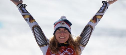 La checa de 22 años, que el pasado sábado obtuvo una sorprendente victoria en la superestrella del esquí G