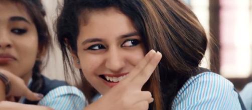 Priya Prakash Varrier: (Movie trailer/Youtube screencap)