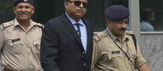 Karti Chidambaram is arrested. (image credit Republic world -Youtube)