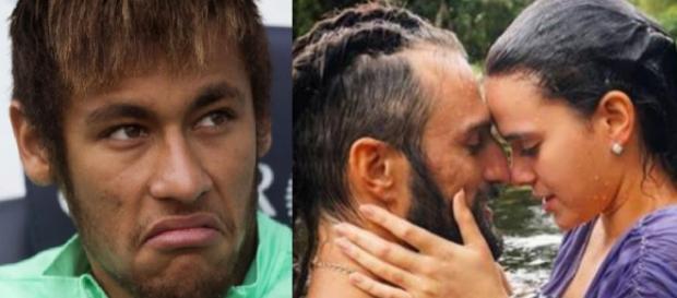 Neymar não gosta de ver a amada em cenas românticas (Bruna Marquezine e José Fidalgo)