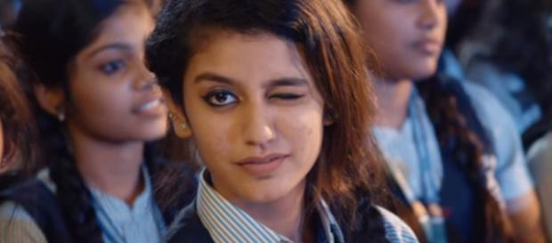 Priya Prakash Varrier: (Image via Musiz247/YouTube screencap)