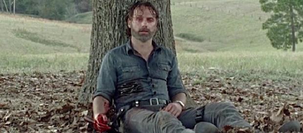 Rick Grimes ao final do episódio 9 da oitava temporada