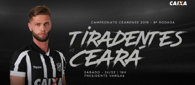 Tiradentes x Ceará ao vivo neste sábado