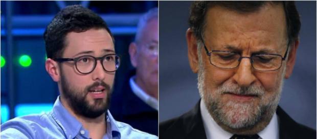 Valtonyc u Mariano Rajoy en inagen