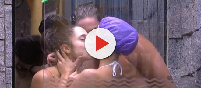 Beijo triplo no 'BBB18': Breno, Jéssica e Paula esquentam o clima no chuveiro