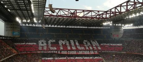 Una coreografia tifosi del Milan