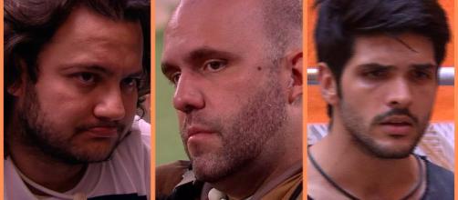 'BBB 18': Diego, Caruso e Lucas fazem parte do 5º paredão do programa