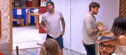 Caruso e Jéssica discutem depois da formação do paredão (Foto/TV Globo)