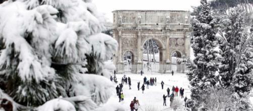 La neve a Roma dalla notte (foto - cemer.it)