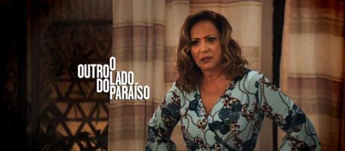 Nádia é a personagem mais racista da novela e ficará passada ao ver que seu neto é negro. (Imagem/Web)