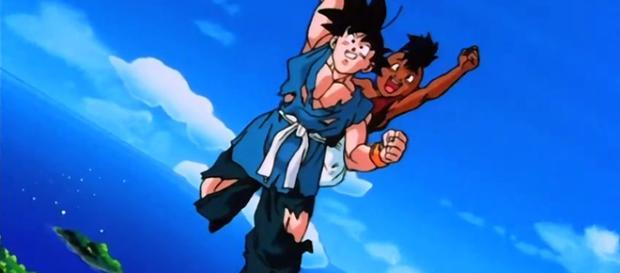 Goku e Uub no final de Dragon Ball Z