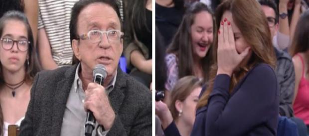 Moacyr Franco faz pergunta sobre seu 'Pimpolho' e sexóloga fica chocada. (foto reprodução).