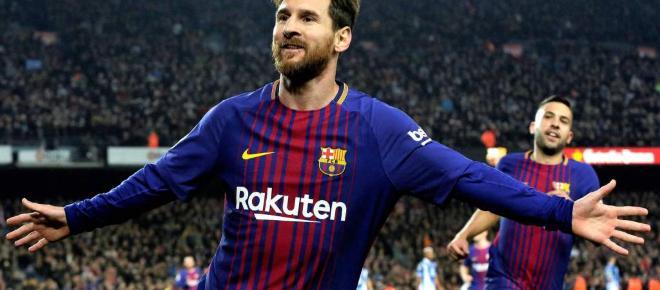 El FC Barcelona gana por goleada la Girona con un Messi inspirado