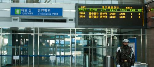 Dorasan Station that connects North Korea to South Korea (Image credit - Pekka Tamminen, Wikimedia Commons)
