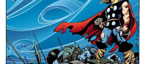 El poderoso rayo de Thor en Marvel Comics.