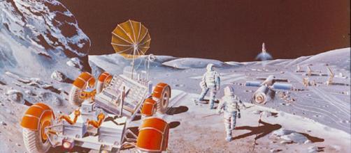 Future lunar colony [image courtesy NASA]