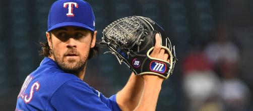 Is Cole Hamels heading out of Texas in 2018? [Image via MLB.com/YouTube]