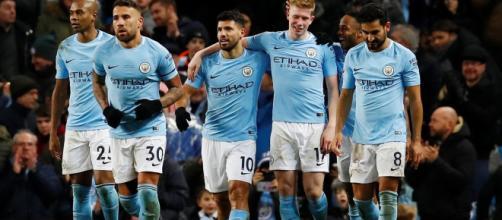 Manchester City 5-1 Leicester: Sergio Aguero crashes in four as ... - mirror.co.uk