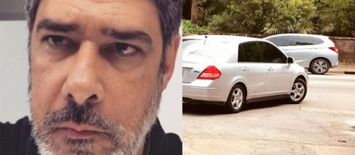 O jornalista achou estranha a atitude do motorista do veículo ( Reprodução - Instagram )