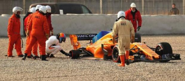Alonso había estado en camino de establecer el mejor tiempo del día
