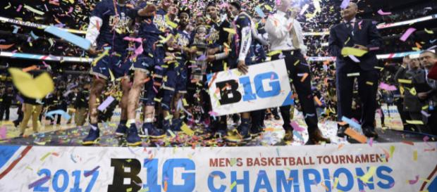 Can the Wolverines repeat as Big 10 tournament champions? [Image via Big Ten Network/YouTube]